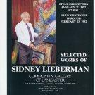 Sidney Lieberman 1992 Art Exhibition Ad Advert