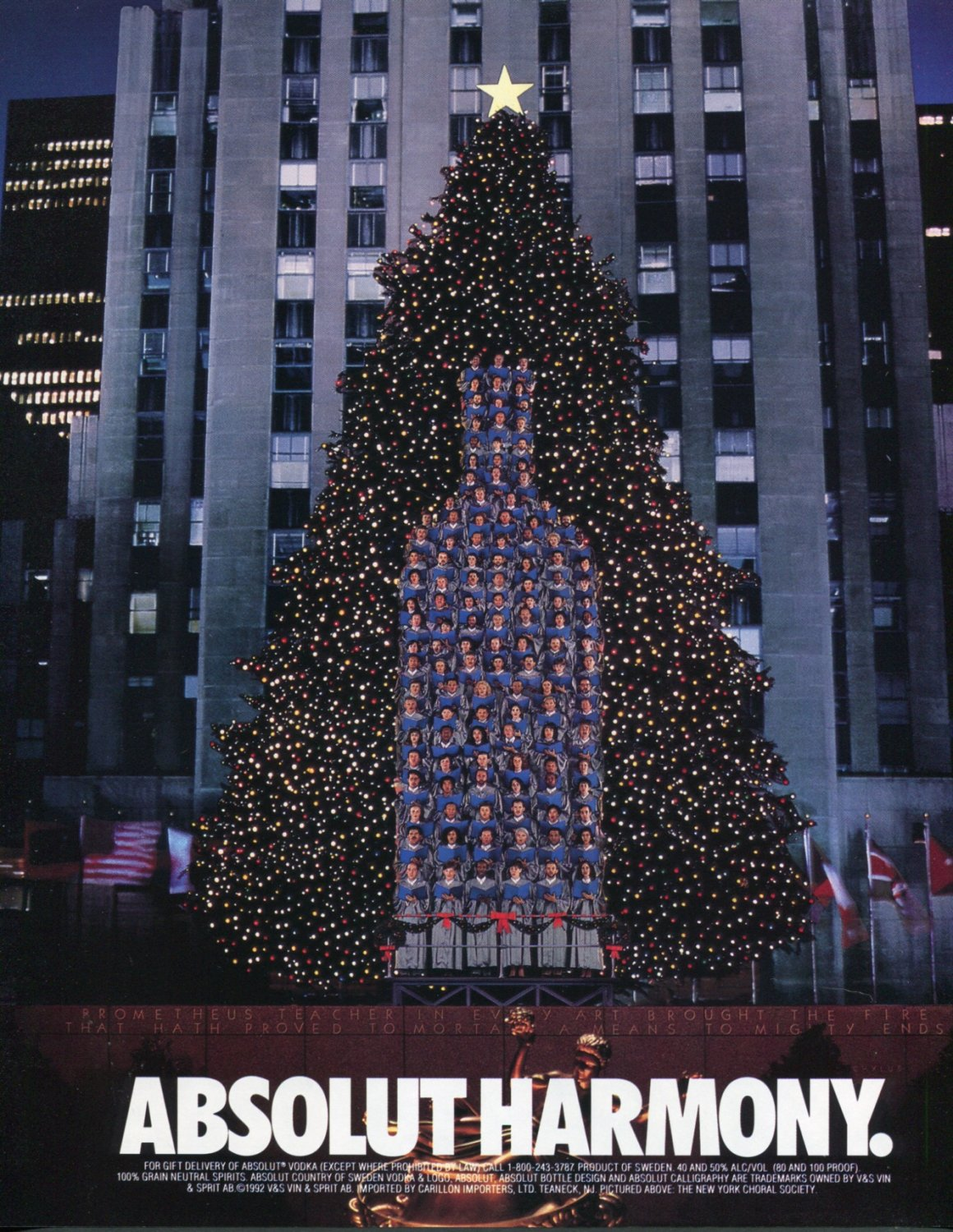 Absolut Harmony The New York Choral Society 1992 Absolut Vodka Ad Advert