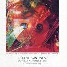 James Rosenquist 1992 Art Exhibition Ad Advert