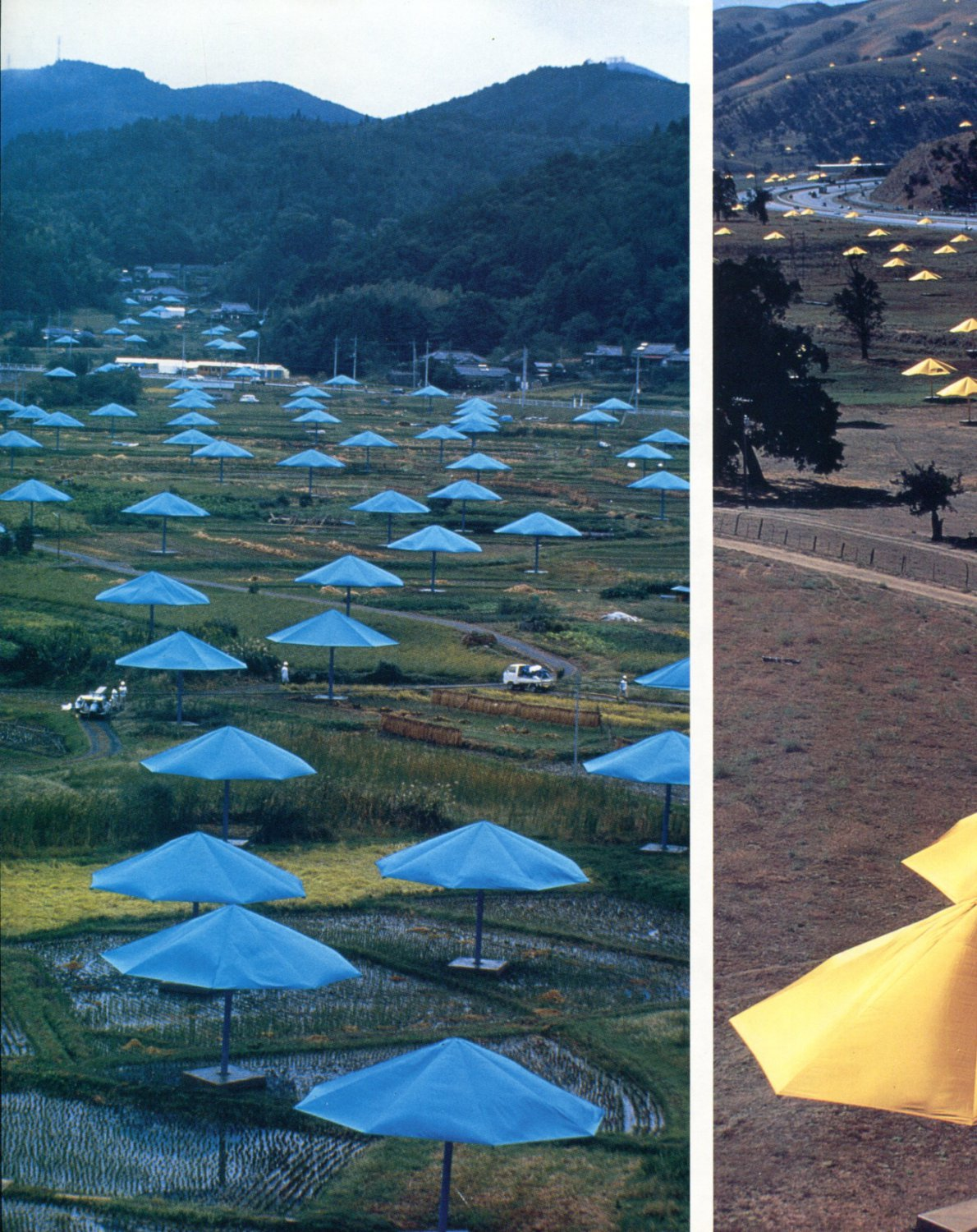 Christo Blue/Yellow Diptych Umbrellas Project 1992 Art Magazine Article