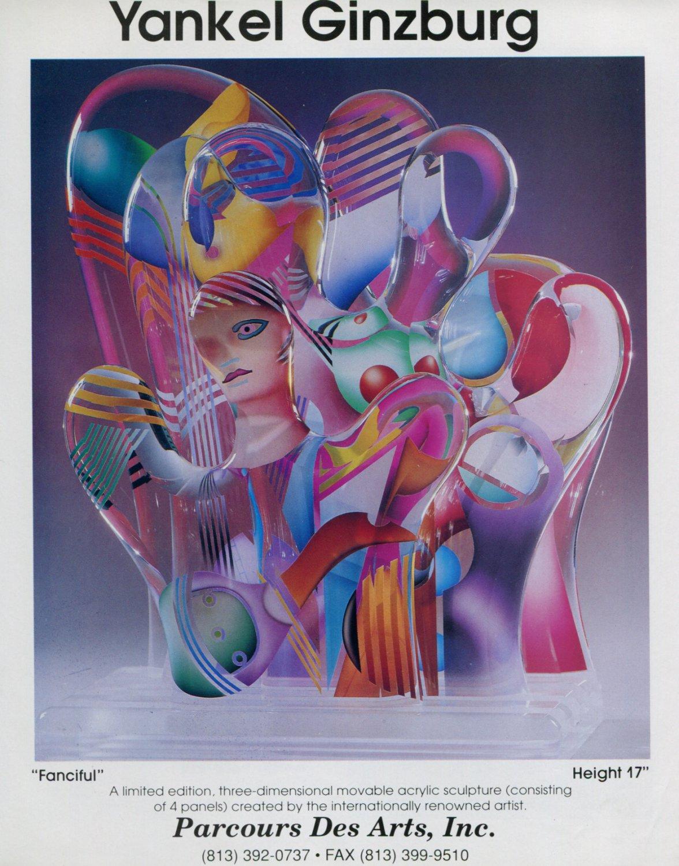 Yankel Ginzburg 1992 Art Ad Advert