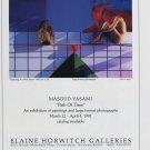 Masoud Yasami Path of Time 1992 Art Exhibition Ad Advert