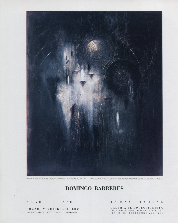 Domingo Barreres Ancestral Haunts 1992 Art Exhibition Ad Advert