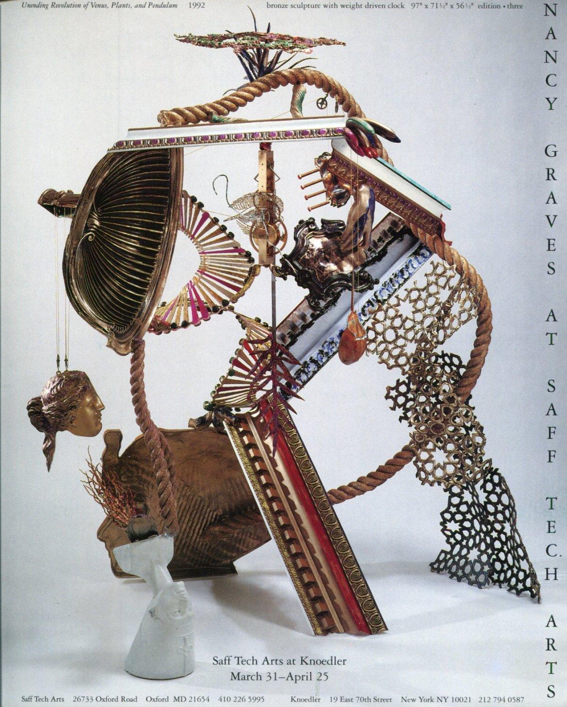 Nancy Graves 1992 Art Exhibition Ad Advert