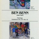 Ben Benn 1983 Art Exhibition Ad Advert