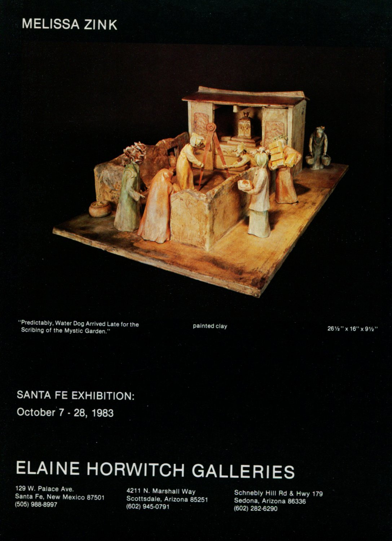 Melissa Zink 1983 Art Exhibition Ad Advert