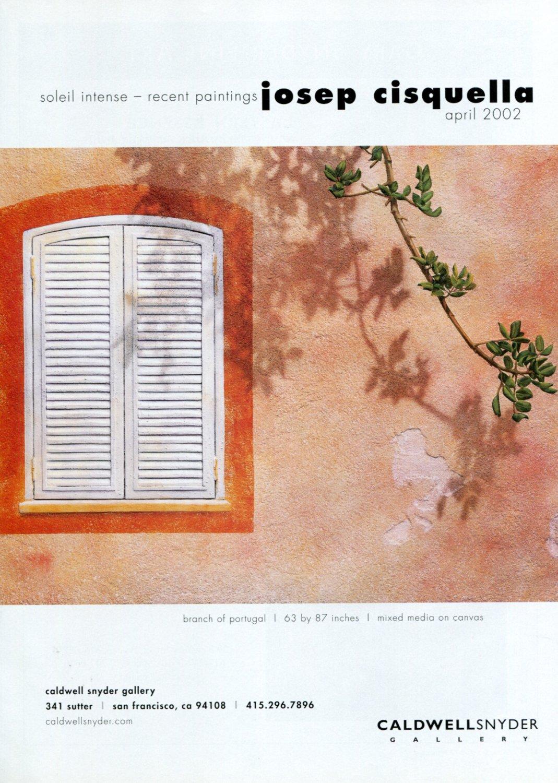 Josep Cisquella Soleil Intense 2002 Art Exhibition Ad Advert