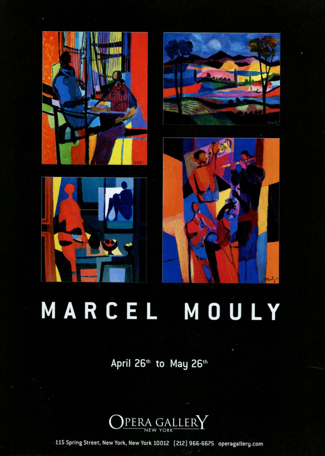 Marcel Mouly 2002 Art Exhibition Ad Advert