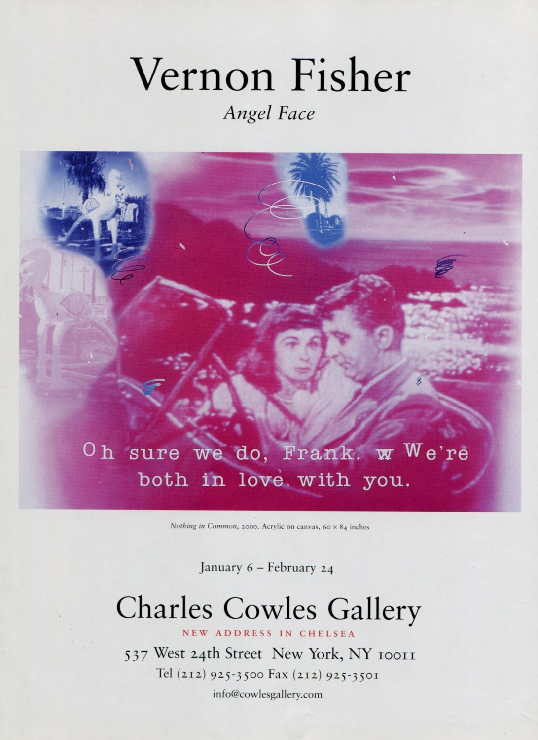Vernon Fisher Angel Face 2001 Art Exhibition Ad Advert Nothing in Common