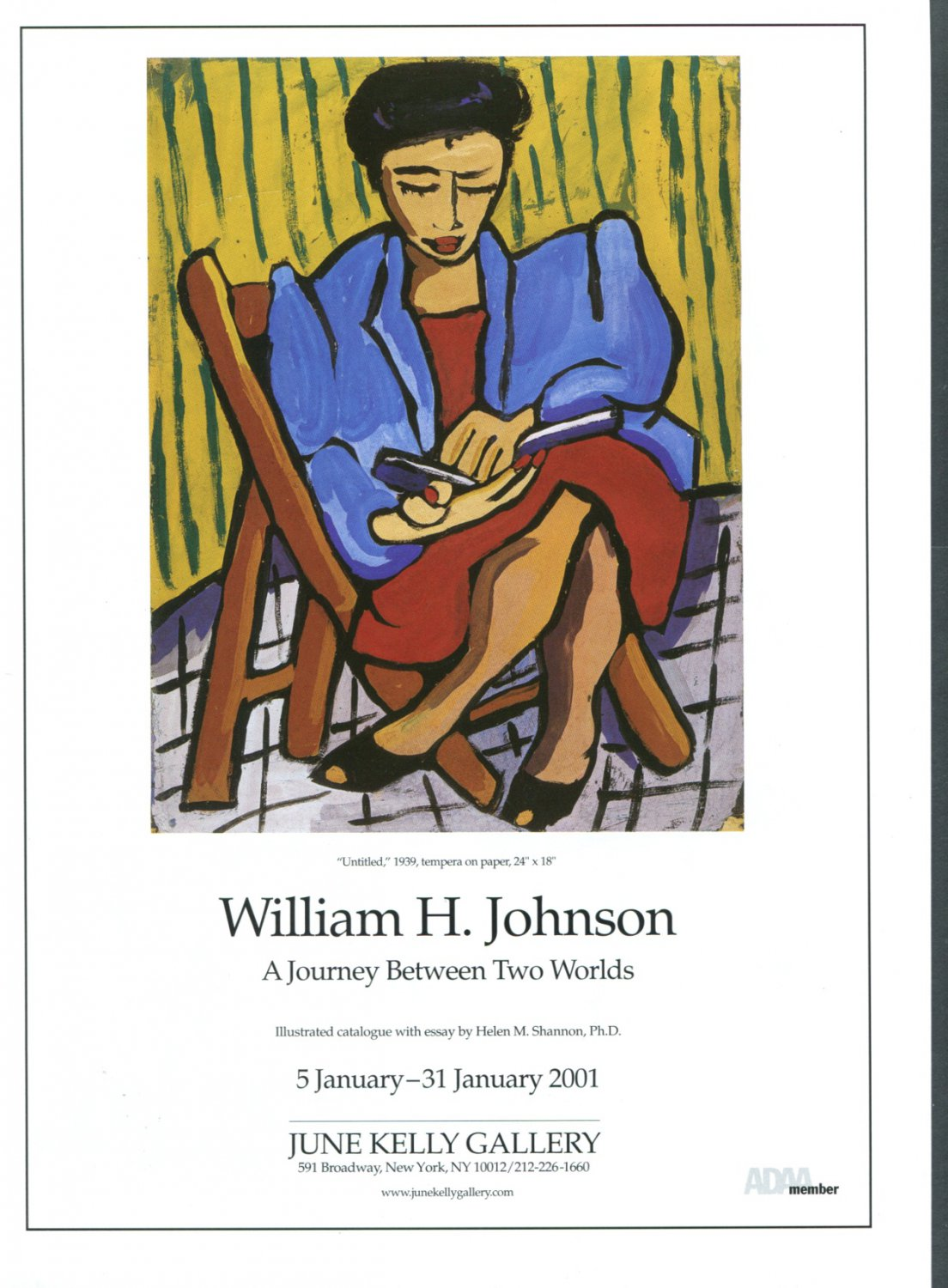 William H. Johnson A Journey Between Two Worlds 2001 Art Exhibition Ad Advert