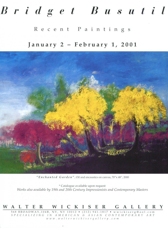 Bridget Busutil Enchanted Garden 2001 Art Exhibition Ad Advert