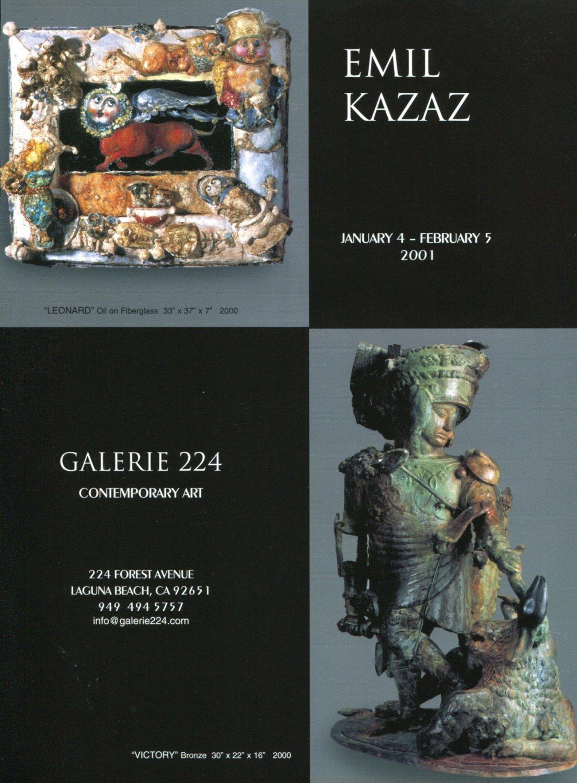 Emil Kazaz 2001 Art Exhibition Ad Advert