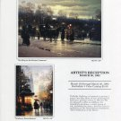 G. Harvey 1992 Art Exhibition Ad Advert Strolling on the Boston Commons