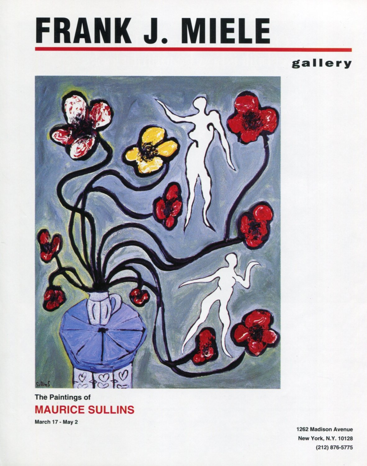 Maurice Sullins 1992 Art Exhibition Ad Advert