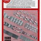 Fischer Bander Arthur Fischer Pforzheim West Germany 1972 Swiss Ad Suisse Advert