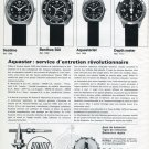 1970 Aquastar: Service d'entretien Revolutionnaire Swiss Magazine Article Aquastar Watch Co Suisse