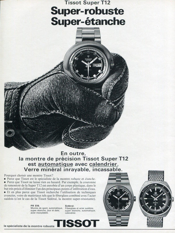 1972 Tissot Watch Company Tissot Super T12 Advert 1972 Swiss Ad Suisse Advert Schweiz