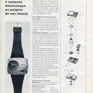 Nepro Watch Company Switzerland Nepro Zanzara 1970 Swiss Magazine Article Suisse