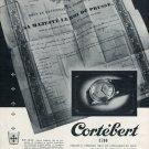 1952 Cortebert Watch Company Switzerland Vintage 1952 Swiss Ad Suisse Advert Schweiz