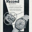 1952 Record Watch Company Geneva Switzerland Vintage 1952 Swiss Ad Suisse Advert Schweiz