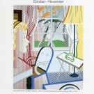 1997 Roy Lichtenstein London Art Exhibition Ad Interior with Female Bust Advert