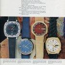Bulova Watch Company 4 Colorful Versions of the Truth Bulova Accutron Advert 1971 Magazine Ad