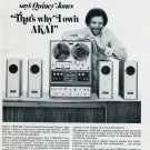 1971 Quincy Jones Music is my Business Akai Stereo Systems Advert Vintage 1971 Magazine Ad