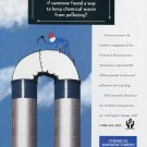 1993 Chemical Manufacturers Association 1993 Anti-Pollution Recycling Ad Magazine Advert