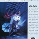 1993 Olympic Athletes Games Jim Holland Skiing US Jumping Team Visa 1993 Ad Magazine Advert
