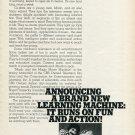 Marlo and the Magic Movie Machine CBS 1977 Ad Magazine Advert Laurie Faso