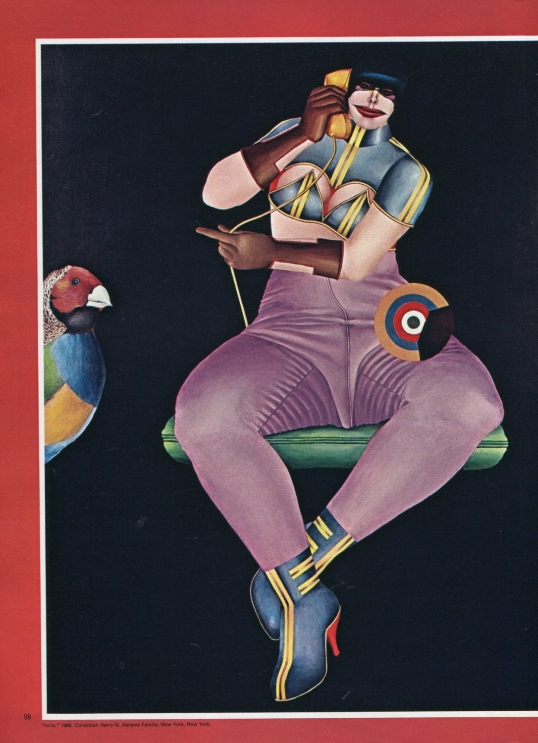 Richard Lindner Lindner's Ladies Vintage 1973 Magazine Article by Hilton Kramer