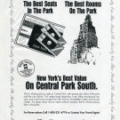 1996 St. Moritz on the Park Central Park NY New York 1996 Magazine Ad Advert Baseball NY Yankees