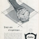 Eska Watch Company Grenchen Switzerland Vintage 1952 Swiss Ad Advert Suisse Schweiz