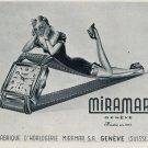 1952 Miramar Watch Company Miramar S.A. Geneva Switzerland 1952 Swiss Ad Suisse Advert Schweiz