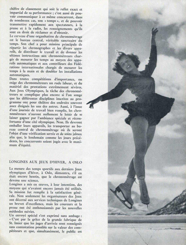 1952 Olympics Oslo Helsinki Longines Watch Co Omega Watch Company Vintage Swiss Magazine Article