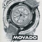 1947 Movado Watch Company Switzerland Vintage 1947 Swiss Ad Advert Suisse Suiza Schweiz