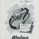 1947 Alpina Watch Company Bienne Switzerland Vintage 1947 Swiss Ad Advert Suisse Suiza Schweiz