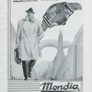 1947 Mondia Watch Company Paul Vermot & Co SA Switzerland Vintage 1947 Swiss Ad Advert Suisse Suiza