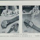1947 Arsa Watch Company A. Reymond S.A. Tramelan Switzerland Vintage 1947 Swiss Ad Advert Suisse