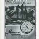 1947 Minerva Watch Company Villeret Switzerland Vintage 1947 Swiss Ad Advert Suisse Suiza Schweiz