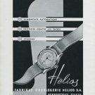 1947 Helios Watch Company Porrentruy Switzerland Vintage 1947 Swiss Ad Advert Suisse Suiza Schweiz