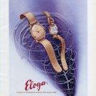 1947 Eloga Watch Company Switzerland Vintage 1947 Swiss Ad Advert Suisse Schweiz Suiza