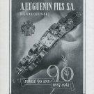 1947 Huguenin Watch Company 90th Anniversary Huguenin Fils 1947 Swiss Ad Advert Suisse Schweiz Suiza