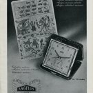 1946 Angelus Clock Company Switzerland Vintage 1946 Swiss Ad Advert Suisse Suiza Schweiz