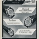 1953 Paul Buhre Watch Company Switzerland Vintage 1953 Swiss Ad Advert Suisse Schweiz Suiza