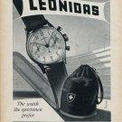 1953 Leonidas Watch Company St-Imier Switzerland Vintage 1953 Swiss Ad Advert Suisse Suiza Schweiz