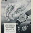 1953 Atlantic Watch Company Aristex Ed Kummer 65th Anniversary 1953 Swiss Ad Advert Suisse Schweiz