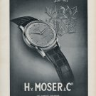 1952 Hy Moser & Cie Watch Company Switzerland Vintage 1952 Swiss Ad Advert Suiza Suisse Schweiz