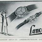 1946 Lanco Watch Company Langendorf Watch Co Switzerland Vintage 1946 Swiss Ad Advert Suisse Schweiz