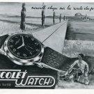 1946 Nicolet Watch Company Tramelan Switzerland Vintage 1946 Swiss Ad Advert Suisse Suiza Schweiz